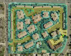 Landscaping & Snow Removal Commercial Diagram, Solomon Services, Denver, CO