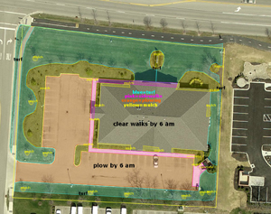 Commercial Snow Removal Diagram, Environmental Management Inc., Columbus, OH