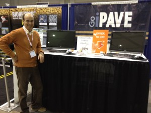 Chris holding down the booth at NPE 2012 in Memphis, TN.