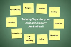 Training Topic Ideas for Asphalt Companies